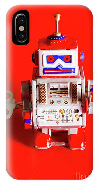 Technological iPhone Case - 1970s Wind Up Dancing Robot by Jorgo Photography - Wall Art Gallery