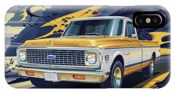 Movement iPhone Case - 1971 Chevrolet C10 Cheyenne Fleetside 2wd Pickup by Garth Glazier