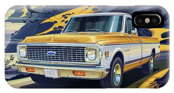 Truck iPhone X Case - 1971 Chevrolet C10 Cheyenne Fleetside 2wd Pickup by Garth Glazier