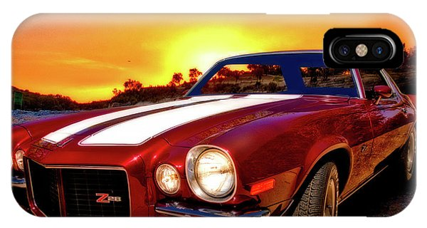 1971 Z28 Camaro Hdr Vivid Remembrance IPhone Case