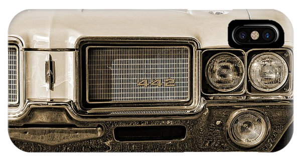 1972 Olds 442 - Sepia IPhone Case