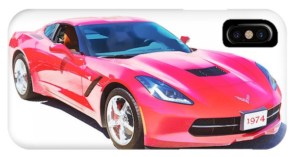 1974 Red Corvette By Chevrolet Painting Print 3480.02 IPhone Case