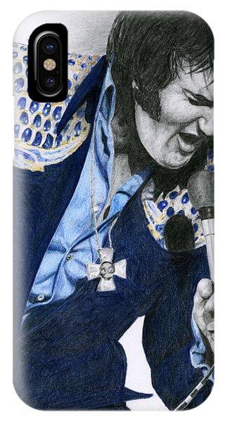 1975 Dark Blue Two Piece Suit Blue Gold Ornaments IPhone Case