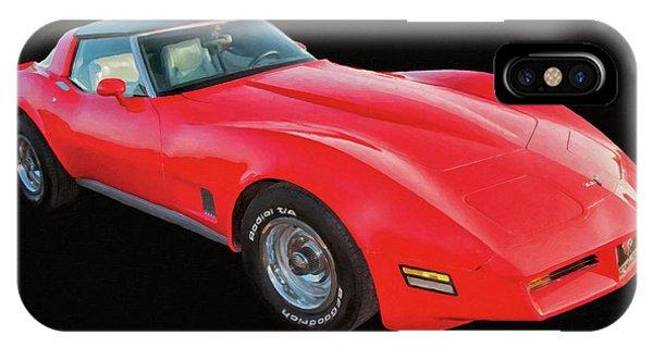 1977 Chevy Corvette T Tops Digital Oil IPhone Case
