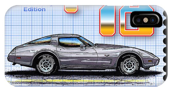 1978 Silver Anniversary Edition Corvette IPhone Case