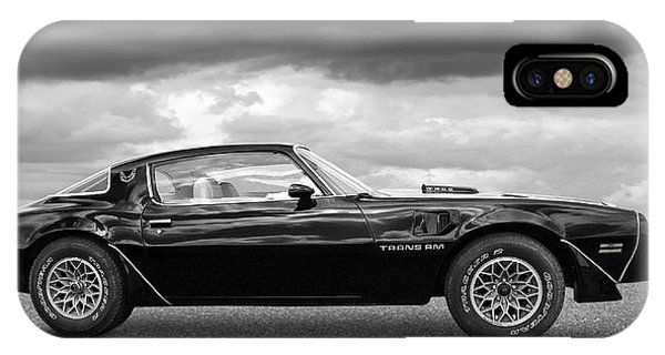 1978 Trans Am In Black And White IPhone Case