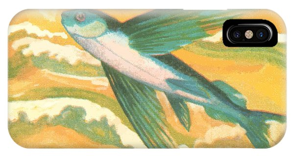 Reef iPhone Case - 1984 Vietnam Flying Fish Postage Stamp by Retro Graphics