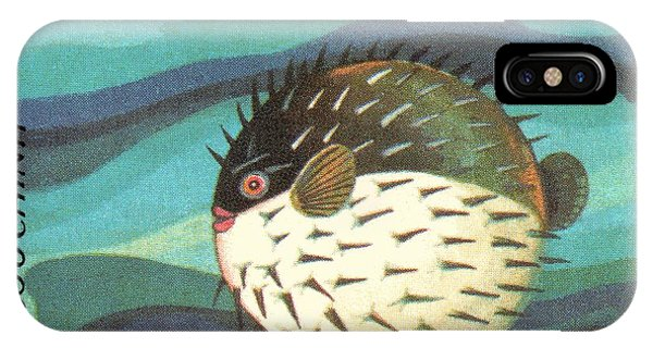 Reef iPhone Case - 1984 Vietnam Spotted Porcupinefish Postage Stamp by Retro Graphics