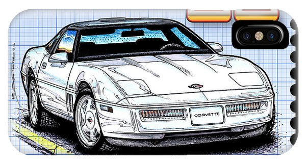 1988 35th Anniversary Special Edtion Corvette IPhone Case