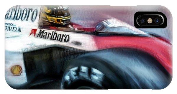 Advertising iPhone Case - Racing 1989 Monaco Grand Prix by Mark Tonelli