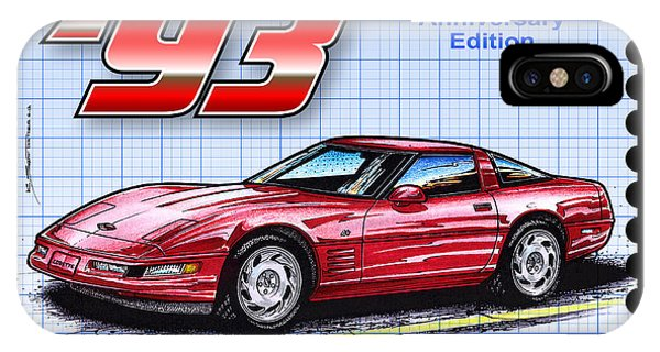 1993 40th Anniversary Edition Corvette IPhone Case