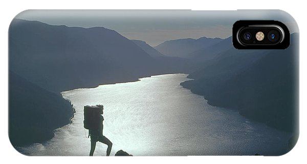 IPhone Case featuring the photograph 1a4042 Silhouette At Crescent Lake Wa by Ed Cooper Photography