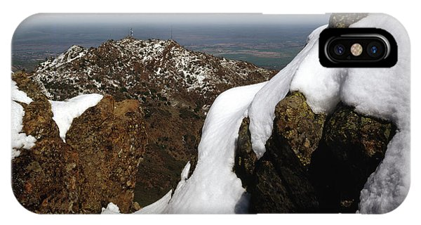 IPhone Case featuring the photograph 1a6485 Snow On Mt. Diablo Ca by Ed Cooper Photography