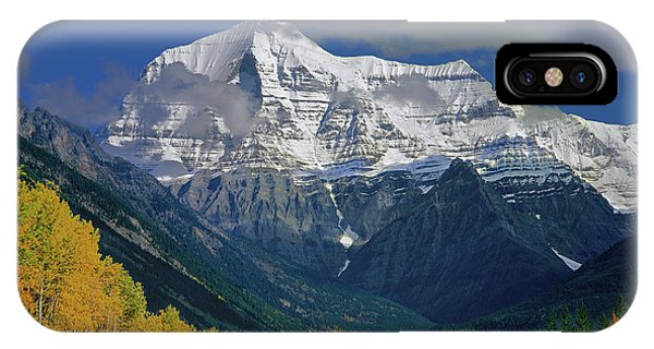 1m2441-h Mt. Robson And Yellowhead Highway H IPhone Case