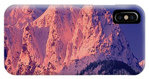 1m4503-a Three Peaks Of Mt. Index At Sunrise IPhone Case