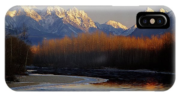 1m4525 Skykomish River And West Central Cascade Mountains IPhone Case