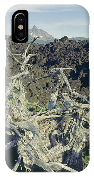 IPhone Case featuring the photograph 1m5412 Mt. Washington Over Lava Fields Wa by Ed Cooper Photography