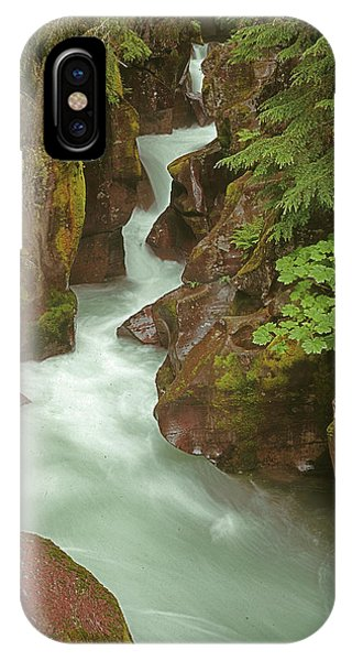1m8115 Avalanche Gorge Mt IPhone Case