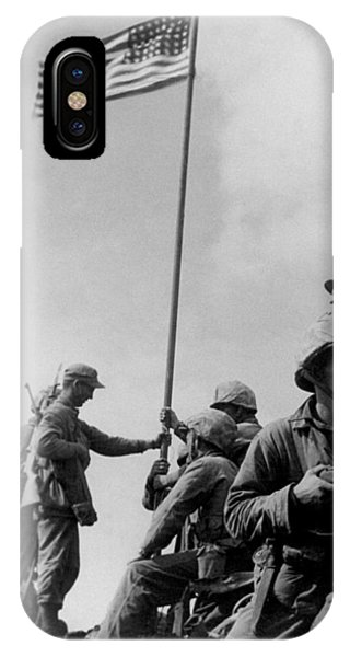 Military iPhone Case - 1st Flag Raising On Iwo Jima  by War Is Hell Store