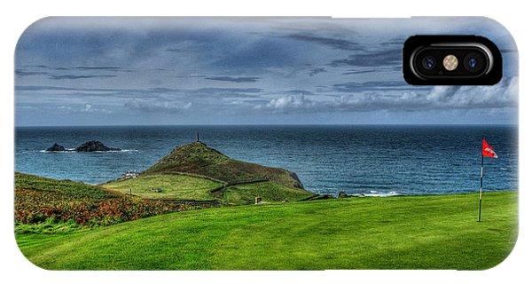 1st Green Cape Cornwall Golf Club IPhone Case