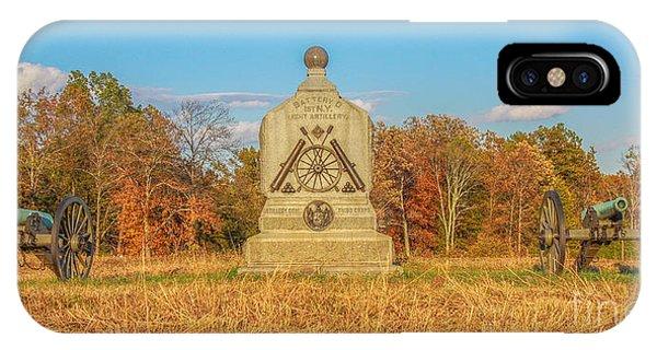 Battery D iPhone Case - 1st New York Battery D Gettysburg by Randy Steele
