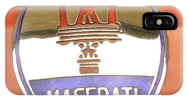 1957 Fangio Maserati 250f Hood Badge IPhone Case