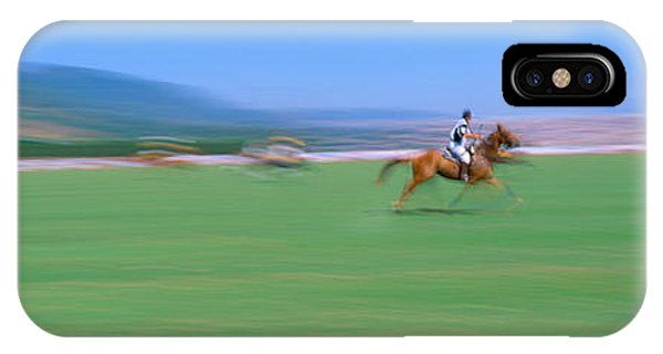 Racquet iPhone Case - 1998 World Polo Championship, Santa by Panoramic Images