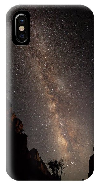 A Dark Night In Zion Canyon IPhone Case