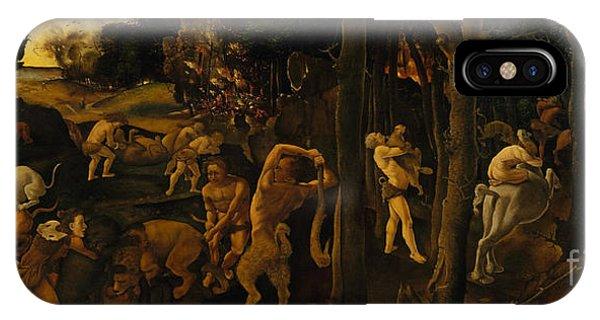 Centaur iPhone Case - A Hunting Scene by Piero di Cosimo