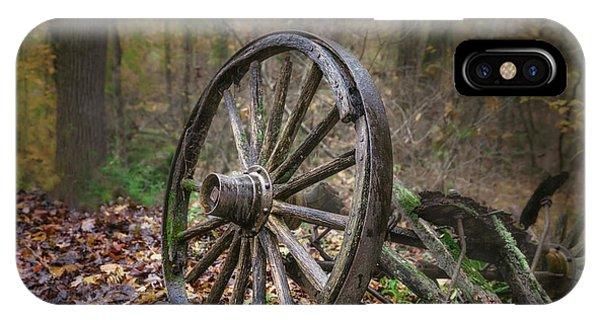 Cart iPhone Case - Abandoned Wagon by Tom Mc Nemar