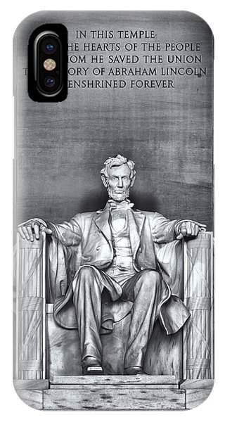 Lincoln Memorial iPhone Case - Abraham Lincoln by Robert Fawcett