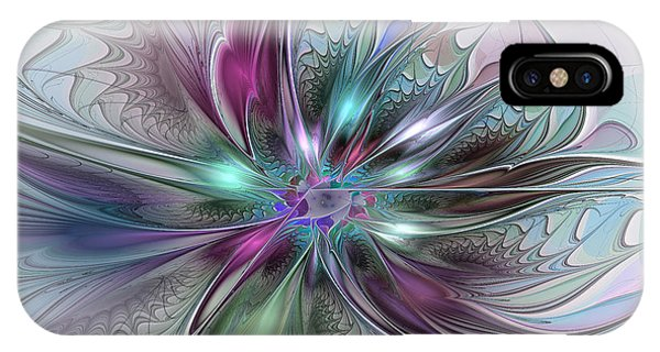 Colorful Fantasy Abstract Modern Fractal Flower IPhone Case