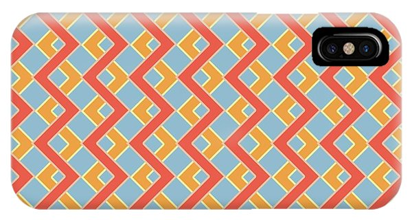 Arte iPhone Case - Abstract Orange, White And Red Pattern For Home Decoration by Drawspots Illustrations