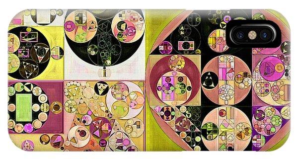 Reef iPhone Case - Abstract Painting - New Tan by Vitaliy Gladkiy