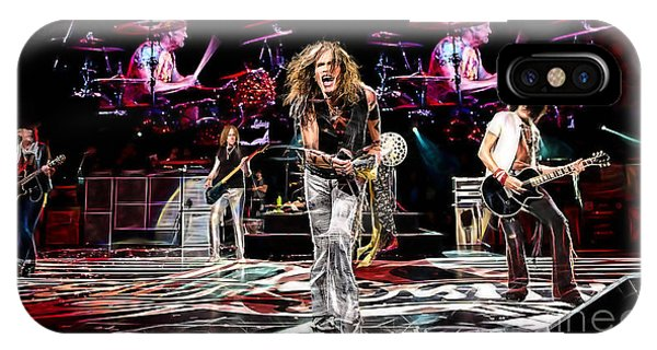 Steven Tyler iPhone Case - Aerosmith Collection by Marvin Blaine