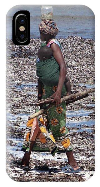 Exploramum iPhone Case - African Woman Collecting Shells 1 by Exploramum Exploramum