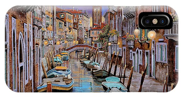 Docked Boats iPhone Case - Quasi L'alba by Guido Borelli