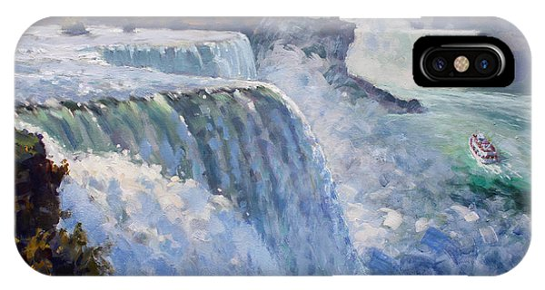 Waterscape iPhone Case - American Falls by Ylli Haruni