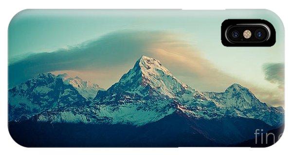 Annapurna South At Sunrise In Himalayas Artmif Photo Raimond Klavins IPhone Case