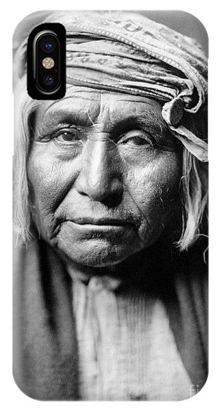 American Indian iPhone Case - Apache Man, C1906 by Granger