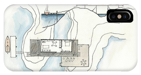 Technical iPhone Case - Architectural Drawing by Juan Bosco