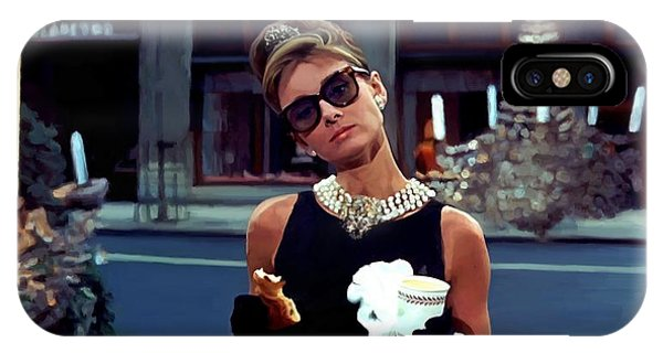 Audrey Hepburn @ Breakfast At Tiffanys IPhone Case