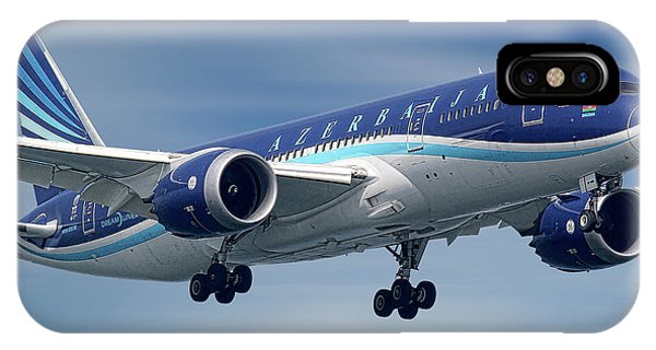 Airline iPhone Case - Azerbaijan Airlines Boeing 787 Dreamliner by Smart Aviation