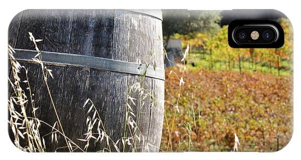 Barrel In The Vineyard IPhone Case