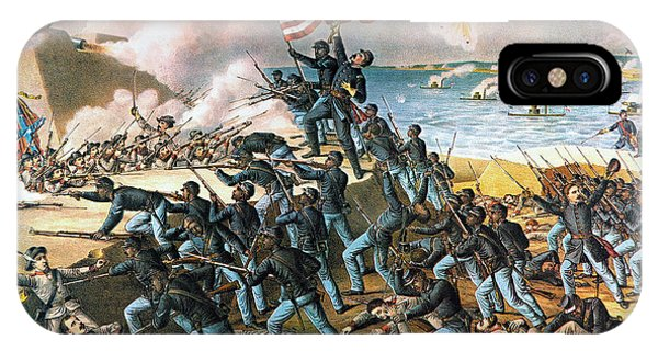 Allison iPhone Case - Battle Of Fort Wagner, 1863 by Granger