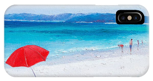 Jervis iPhone Case - Beach Paddling by Jan Matson