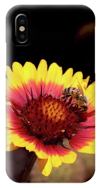 Bee On Flower Phone Case by Michael Riley