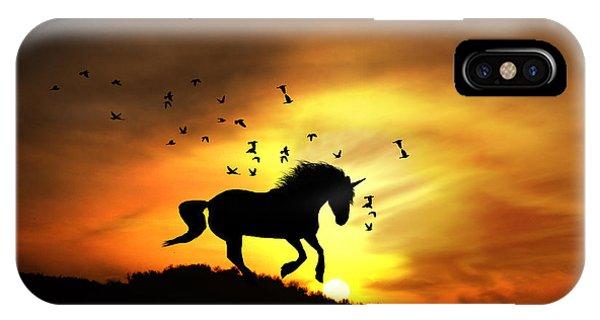 Unicorn iPhone Case - Believe by Stephanie Laird