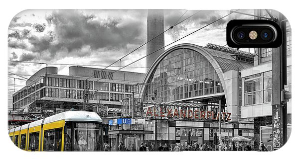 Trolley Car iPhone Case - Berlin Alexanderplatz by Joachim G Pinkawa