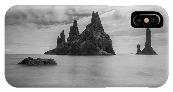 Black Sand iPhone Case - Black Stone Beach  by Michael Ver Sprill